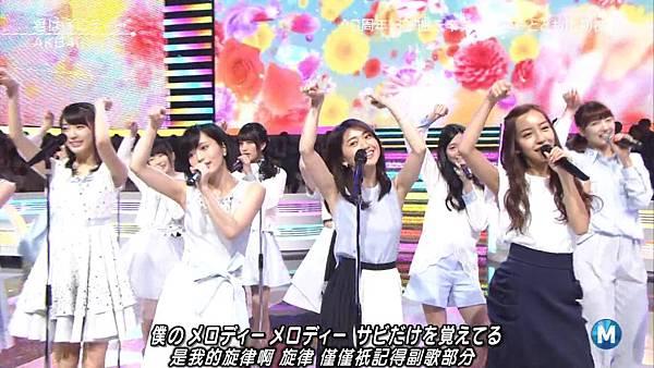 【小櫻花字幕組】160311 MUSIC STATION  AKB48 - 君はメロディー (Talk+Live)_201631319642.JPG