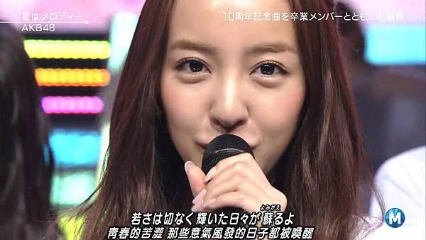 【小櫻花字幕組】160311 MUSIC STATION  AKB48 - 君はメロディー (Talk+Live)_201631319659.JPG