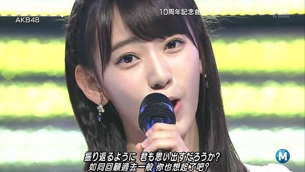 【小櫻花字幕組】160311 MUSIC STATION  AKB48 - 君はメロディー (Talk+Live)_201631319754.JPG