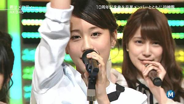 【小櫻花字幕組】160311 MUSIC STATION  AKB48 - 君はメロディー (Talk+Live)_201631319737.JPG