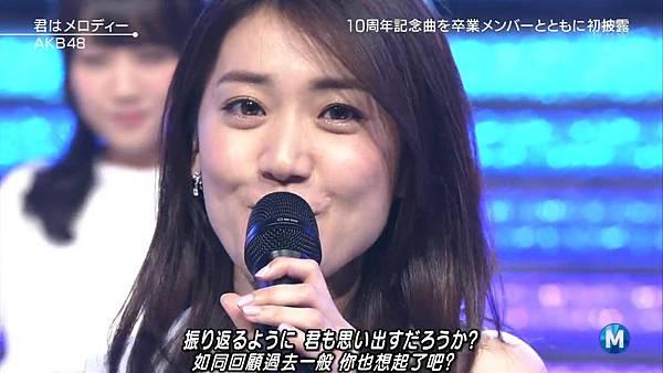 【小櫻花字幕組】160311 MUSIC STATION  AKB48 - 君はメロディー (Talk+Live)_20163131981.JPG