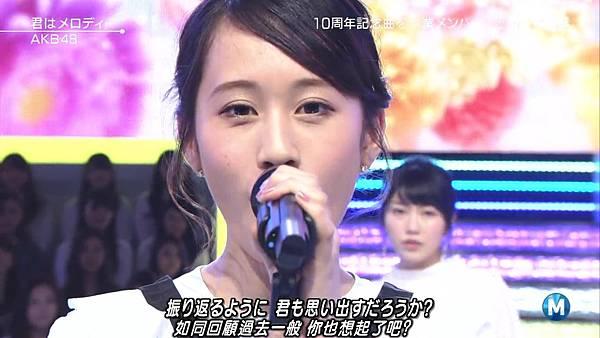 【小櫻花字幕組】160311 MUSIC STATION  AKB48 - 君はメロディー (Talk+Live)_20163131988.JPG
