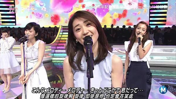 【小櫻花字幕組】160311 MUSIC STATION  AKB48 - 君はメロディー (Talk+Live)_201631319843.JPG