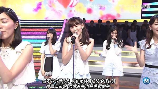 【小櫻花字幕組】160311 MUSIC STATION  AKB48 - 君はメロディー (Talk+Live)_201631319856.JPG