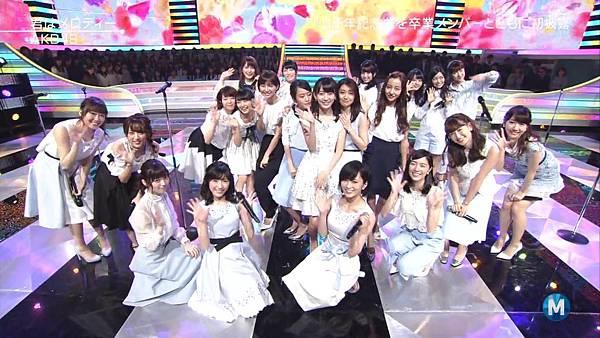 【小櫻花字幕組】160311 MUSIC STATION  AKB48 - 君はメロディー (Talk+Live)_201631319933.JPG