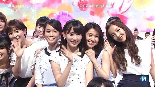【小櫻花字幕組】160311 MUSIC STATION AKB48 - 君はメロディー (Talk+Live)_201631319103.JPG