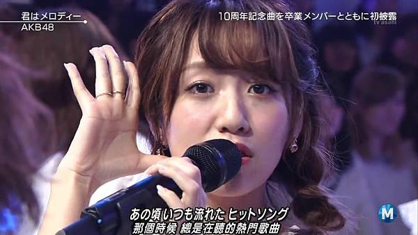【小櫻花字幕組】160311 MUSIC STATION  AKB48 - 君はメロディー (Talk+Live)_201631321037
