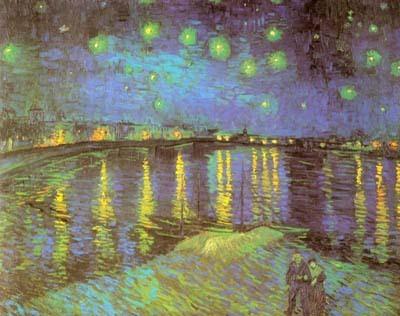 隆河的夜空