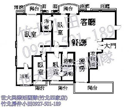 36中悅帝苑裝潢視野戶-格局圖