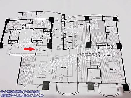 40中悅帝苑裝潢視野戶-格局圖