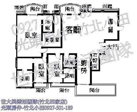 41中悅帝苑裝潢視野戶-格局圖