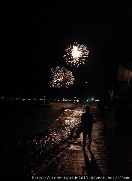 new year fireworks in El Nido