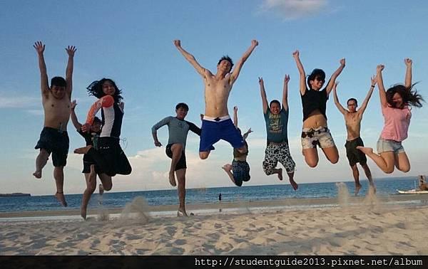jump in Sta Fe beach club