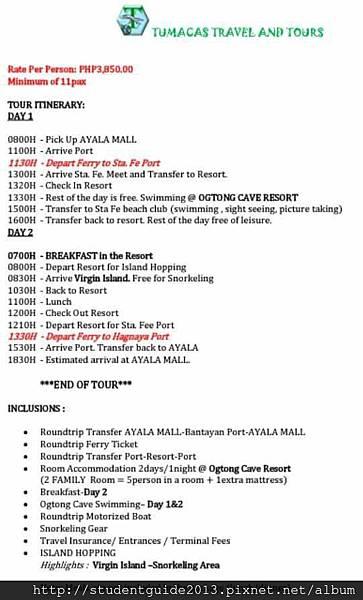 bantayan schedule