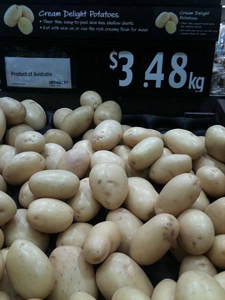 洗好的馬鈴薯