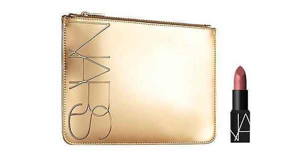 NARS-2020百貨週年慶滿額禮4800GWP-金色狂潮化妝包+迷你絕對經典唇膏.jpg