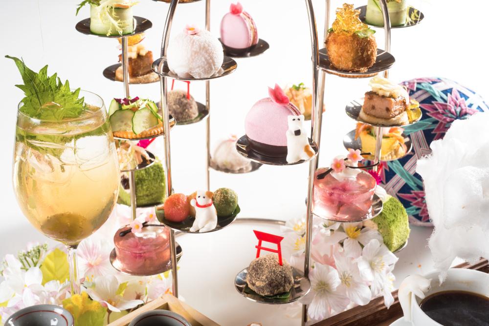台北六福萬怡酒店這次特別推出「櫻」式下午茶,包含6款創意鹹點及6款日本萌系甜點.jpg