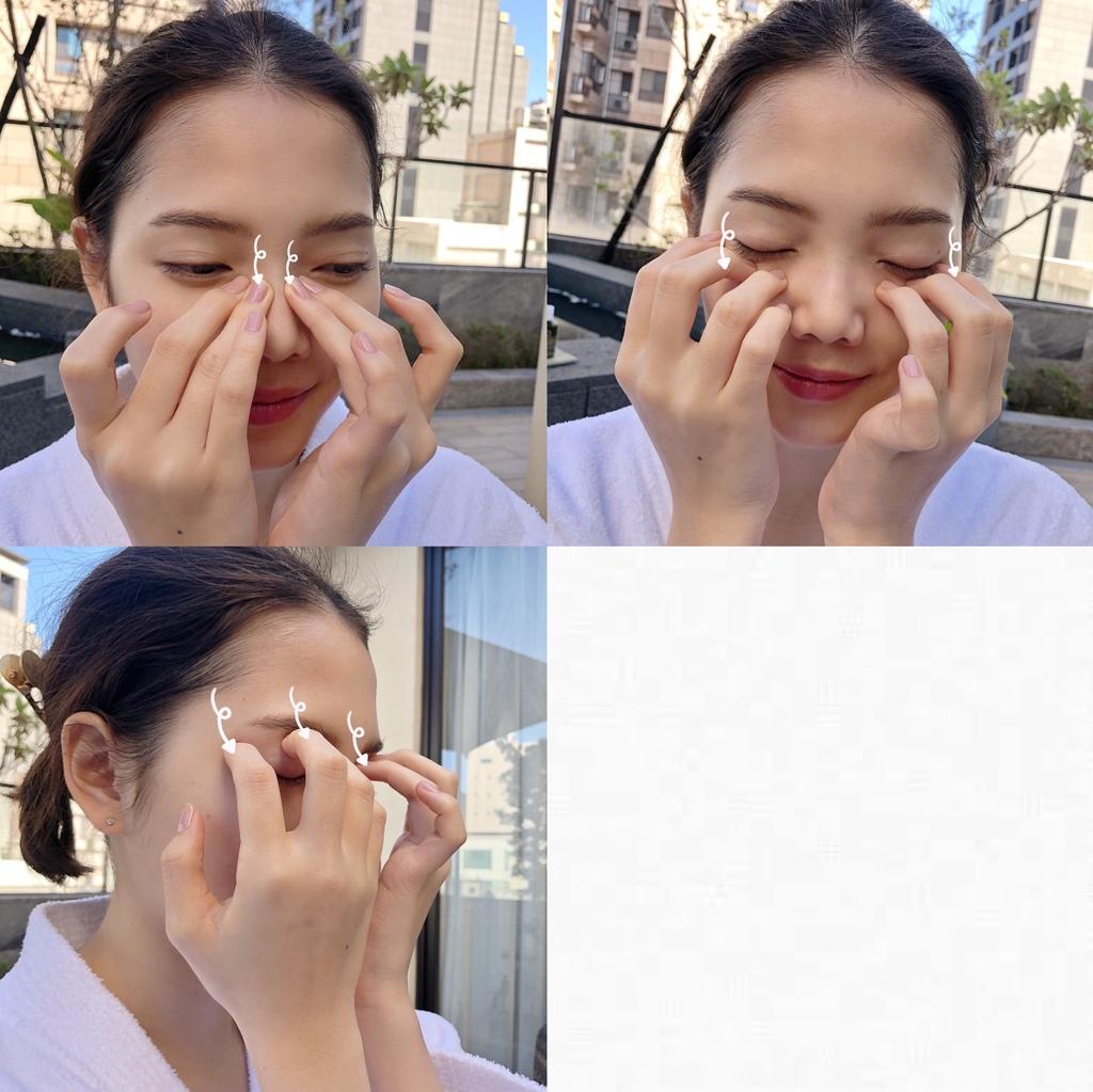 臉部按摩step5-以指腹向內輕按.JPG