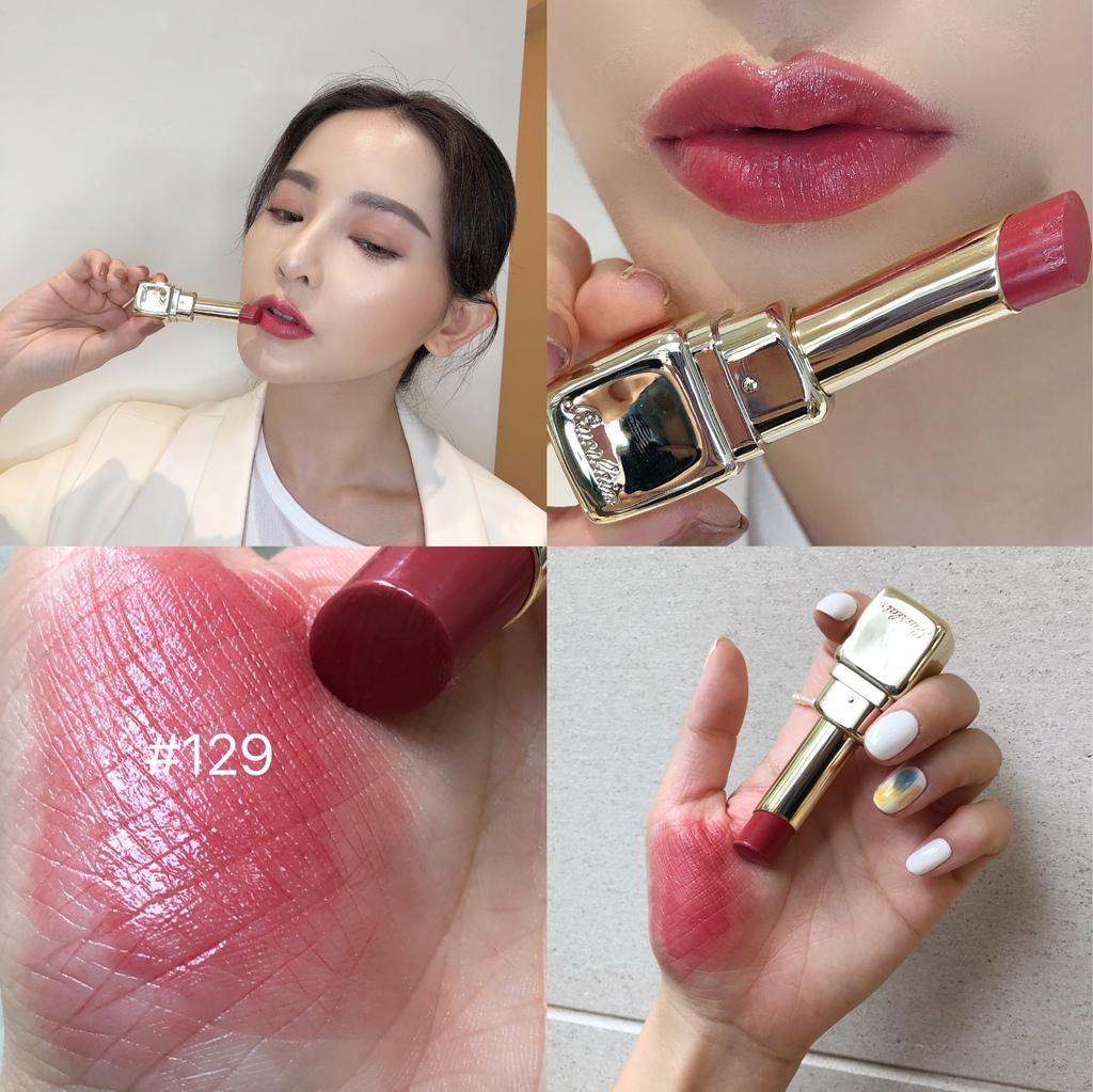 嬌蘭KISSKISS法式之吻波光水潤唇膏#129.JPG