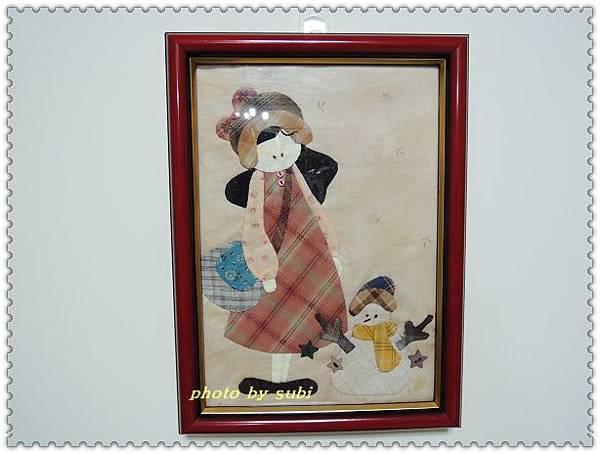 小女孩和雪人小壁飾 008