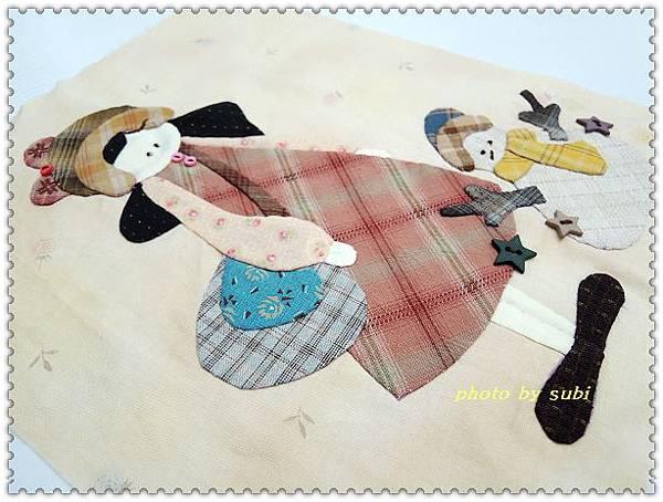 小女孩和雪人小壁飾 004