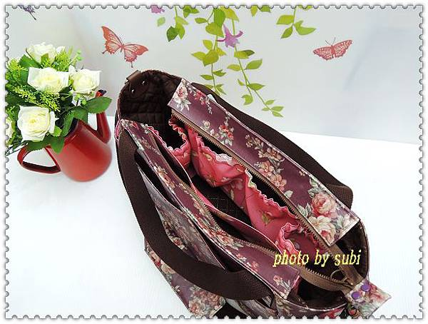 玫瑰花防水包 011