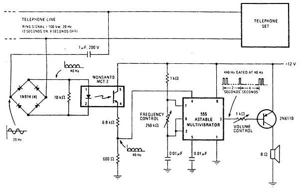 AT-100-001不會構成負載的鈴響電路AL-7