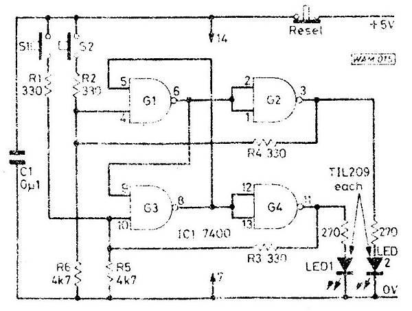搶答遊戲控制電路 MI-15