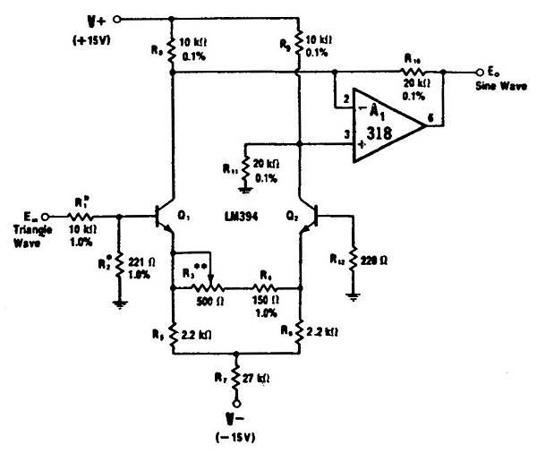 三角波變正弦波電路 SG-7