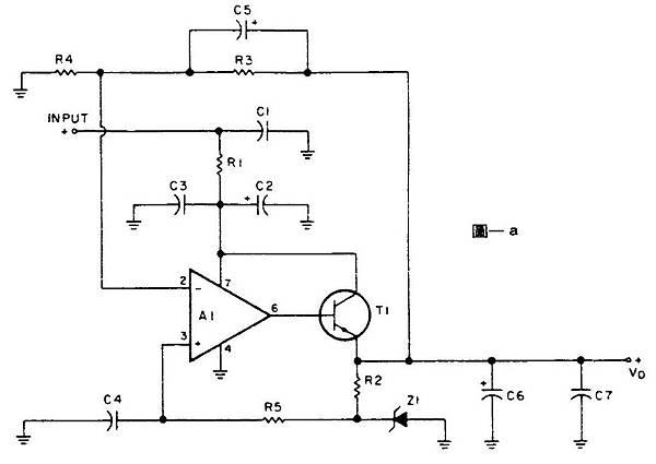 專供OP Amp前級的穩壓電源 圖1a