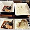 """""""前菜""""和風杏鮑菇及""""附餐""""高麗菜絲"""
