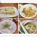 蝦捲50元/魯肉飯30元/白北魚羹45元/台南擔仔麵30元