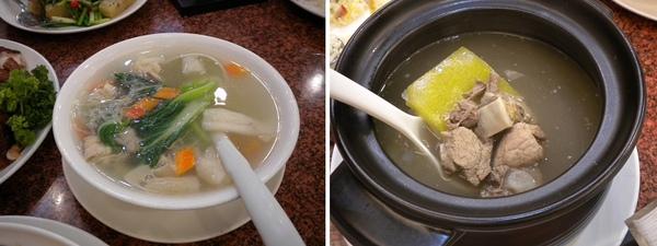 人多點了二種湯來喝!有不同的風味都很棒喔!!