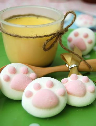 烤布丁和貓掌棉花糖