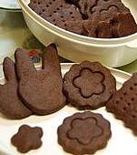 巧克力壓模餅乾