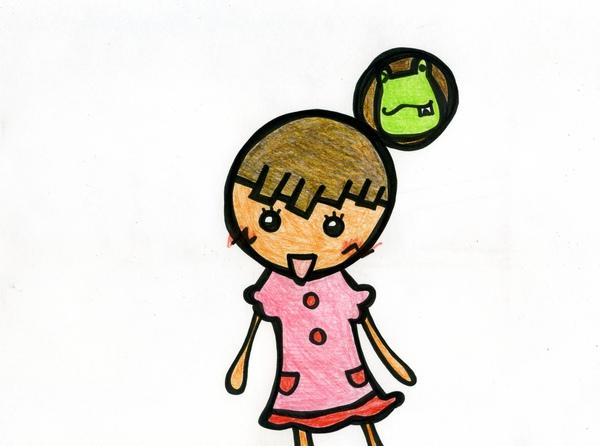 青蛙包包頭 彩色1.JPG