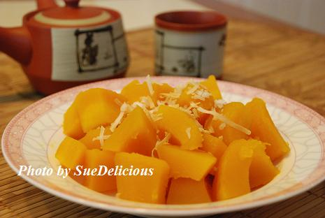 椰絲冰镇南瓜 (Pumpkin with Coconut Flakes)