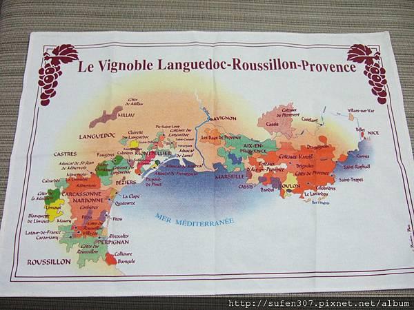 南法地圖桌巾