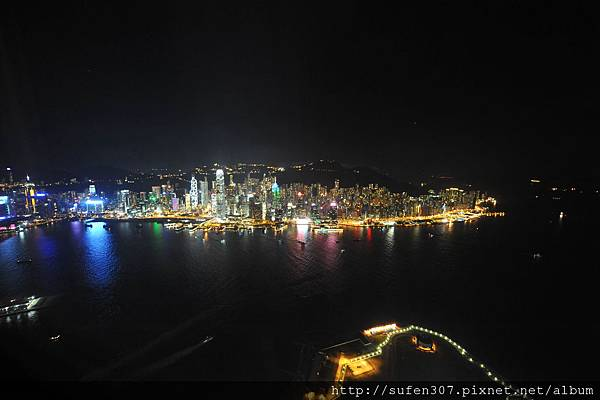 麗思卡爾頓酒店 (The Ritz-Carlton) 豪華海景房 (Harbour Island) 夜景