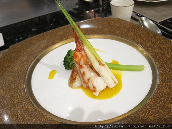 鳳尾明蝦左黃金露