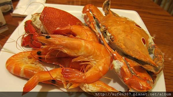 三點蟹、旭蟹、蝦