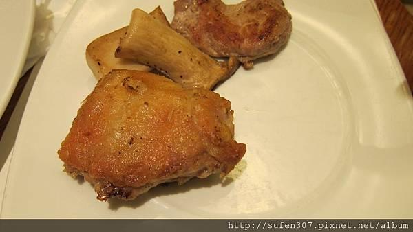 雞排、杏包菇、豬排