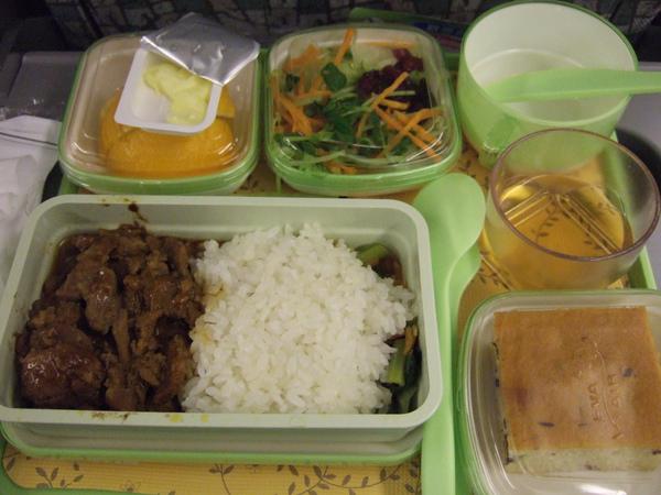 2009/10/28 機上豬肉餐