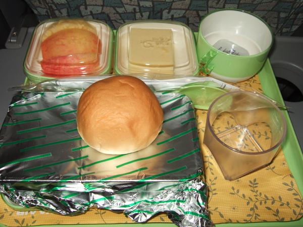 2009/10/29 機上早餐
