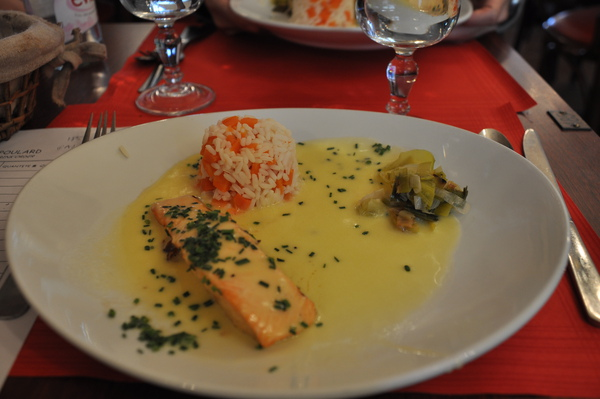 Mont-Saint-Michel-主餐:鮭魚