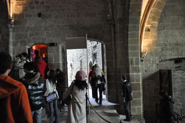 Mont St. Michel 修道院入口