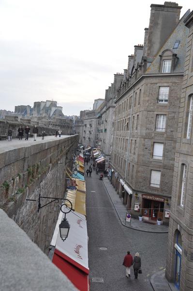 St.Malo-城牆上往城內拍