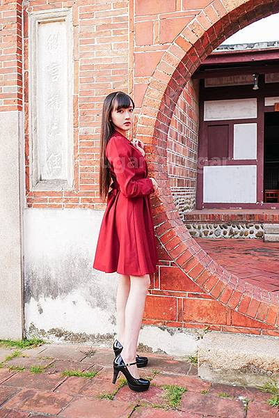 酒紅 時尚 穿搭 洋裝 耶誕 戰袍 連身洋裝