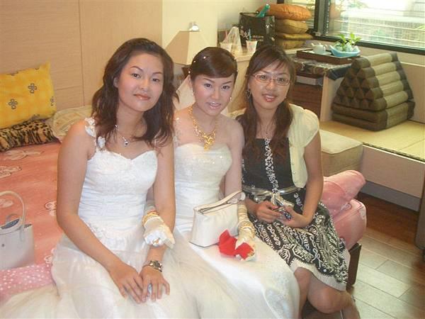 我和小蘭還有新娘子