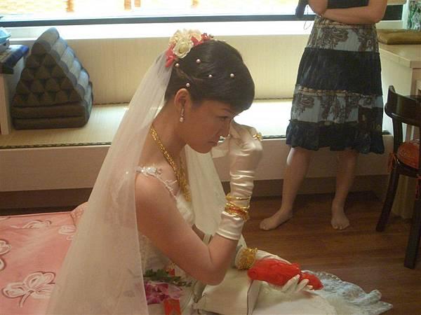 擦眼淚的新娘